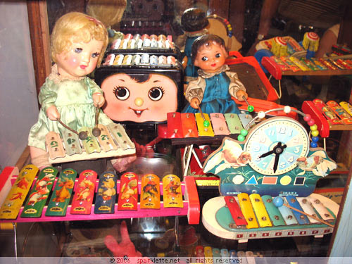 Colourful Shanghai toys