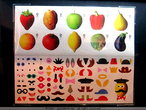 Design your own fruit and vegetable stamps