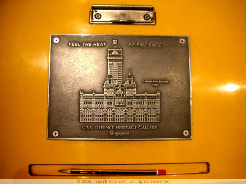 Metal stencil with image of the Central Fire Station