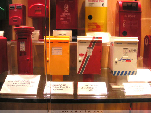 Postboxes used in Singapore since independence